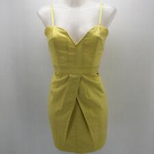 Walter by Walter Baker Yellow Spaghetti Strap Dress Size Small