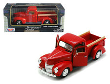 1940 Ford Pick Up Truck Red 1/24 Scale Diecast Model By MotorMax 73234