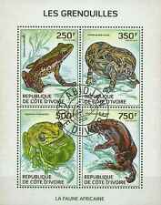 Timbres Grenouilles Cote d'Ivoire 1306/9 o année 2014 lot 14623