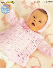 BONNET & ANGEL TOP - birth to 6 months / 4ply - COPY Baby crochet pattern