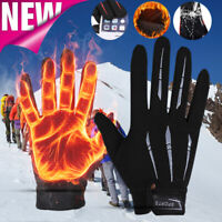 Windproof Mens Women Unisex Winter Warm Gloves Thermal Touch Screen Non-Slip