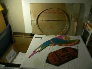 1963 DISNEYLAND TIKI ROOM UNITED AIRLINES MOBILE COUNTER DISPLAY WITH BOX PARTS