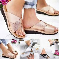 Womens Summer Sandals Slippers Feet Correct Flat Sole Three Arch Bunion Support