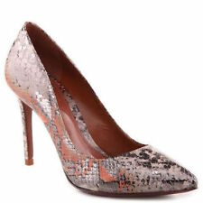 New Schutz Suzanna Natural Snake Skin Leather Pumps Heels Shoes NIB 10B $198
