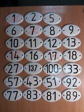 Vintage enamel door number.Size 90x60 mm (3,54x2,36 inch)