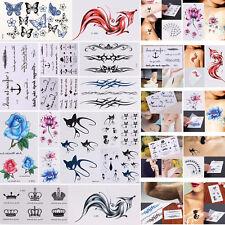 10 Sheets Temporary Tattoo Arm Body Art Removable Waterproof Tattoo Sticker Tool