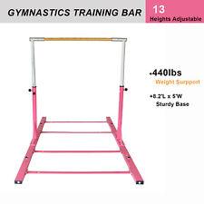 Gymnastic Training Bar Adjustable Gym Horizontal Bar Pink For Junior Kid Sports
