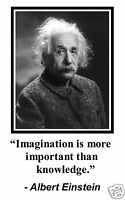 "Albert Einstein "" imagination is more important"" Quote 11 x 17 Poster Photo #dt1"