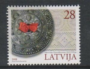 Lettonia - 2008, Cultural Heritage Francobollo - V /L/M - Sg 741