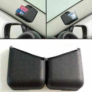 2x Black Universal Auto Phone Organizer Storage Bag Box Holder Car Accessories