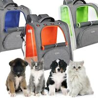 Pet Carrier Backpack for Small Cats and Dogs, Puppies Transparent & Breathable