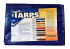 10' x 18' Blue Poly Tarp 2.9 OZ. Economy Lightweight Waterproof Cover