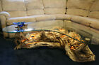 Driftwood Coffee Table and Lamp Set