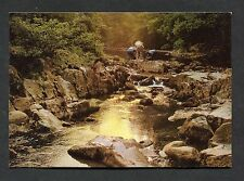 C1980's View of People on Stones, River Llugwy, Betws-y-Coed, North Wales.
