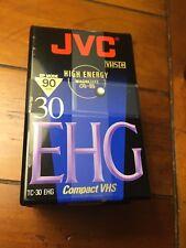 JVC High Energy EHG 30 Pro HiFi 90min (TC-30) Compact VHS Tapes 3-Pack *NEW* A21