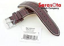 Original New Seiko Solar SSC227 Calf Leather Burgundy Watch Bracelet 22mm