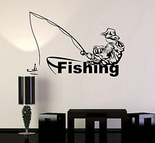 Vinyl Wall Decal Fishing Club Fisherman Boat Stickers Murals (ig4845)