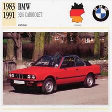 1983-1991 BMW 320i Cabriolet Classic Car Photograph / Information Maxi Card