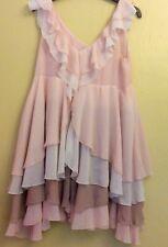 H&M. HENNES. Ladies. Pastel Pink And Brown. Chiffon Dress