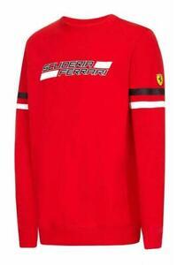 NEW Scuderia FERRARI F1 Team Racer Crew Sweatshirt Jumper Red MENS - OFFICIAL