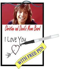 David Cassidy Metal Memo Board Message Board Kitchen Wall Hanger