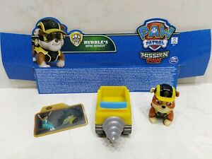 LOOSE New 2016 Nickelodeon/SpinMaster PAW PATROL RUBBLE'S Mini Miner Mission Paw