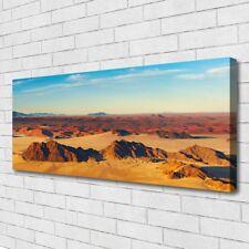 Leinwand-Bilder Wandbild Canvas Kunstdruck 125x50 Wüste Landschaft