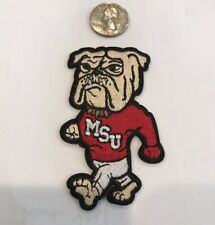 """MSU  Mississippi State UNIVERSITY BULLDOGS Embroidered Iron On Patch: 3""""x 2"""""""