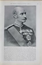 1900 BOER WAR PRINT LIEUTENANT GENERAL SIR GEORGE STEWART WHITE