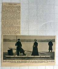 1902 Mr Otto Grossman Famous Water Walker Down Danube With Curious Water Shoes