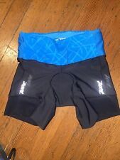 Zoot Triathlon Shorts Womens Small Black/Blue