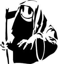 BANKSY Reaper Smiley Etiqueta Auto ventana de parachoques Scooter Sticker Decal
