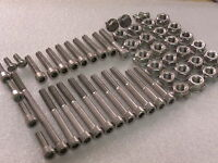 Yamaha Banshee YFZ350 Quad Engine & Cylinder Stainless Allen Bolts Flange Nuts