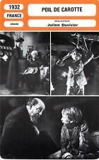 FICHE CINEMA : POIL DE CAROTTE - Baur,Lynen,Duvivier 1932 The Red Head