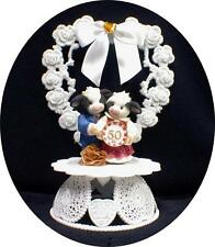 50 Anniversary Wedding Cake Topper Mary Moo Country Western  50th top