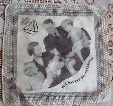 Rare Vintage THE DANISH ROYAL FAMILY Silk Hanky Hankie