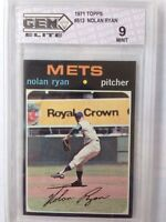 1971 Topps Nolan Ryan #513 Mets Graded 9 MINT RARE Low Pop BV $2300 Baseball HOF