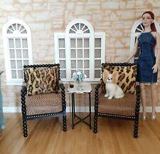 Tonner, Kingdom dolls, 1/4 bjd doll.. 2 Antique Bohemian chairs!! By Bashette'