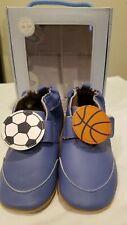 Robeez Boys Soft Sole Leather Shoe Sports Blue 18-24months