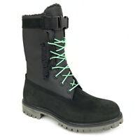"Timberland Men's 6"" Fleece Lined Black Leather Waterproof Gaiter Boots A1UYM"