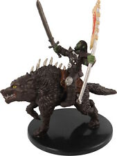 D&D Mini ORC RIDER ON DIRE WOLF Pathfinder RDI Dungeons & Dragons Miniature Rare