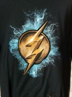 DC JUSTICE LEAGUE Mens L The Flash T-Shirt in Black