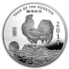 10 oz Silver Round - APMEX (2017 Year of the Rooster) - SKU #101672