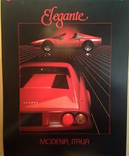 Ferrari 308 Elegance Modena Italia1984 Car Poster Extremely Rare! Own It!