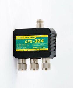 COMET ANTENNA TRIPLEXER CFX-324 FOR HF VHF UHF HAM 1.3-150/200-320/380-500MHz