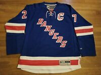 New York Rangers Captain Ryan McDonagh Reebok Premier NHL Jersey Blue sz L