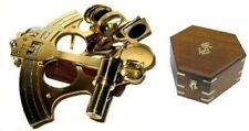 Sextant mit Microeinstellung 21 cm + Holzbox 25 cm