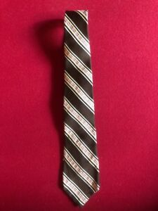 1970's, Burger King Franchisee Tie (Brown w/ Logo) Scarce