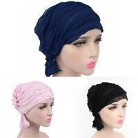 Women Cotton Chiffon Scarf Loss Head Cancer Hat Chemo Cap Turban Head*Wrap Good