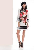 Edas vestito da donna tubino abito stampato tunica fiori Finno taglie forti